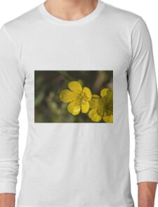 yellow flowers in spring Long Sleeve T-Shirt