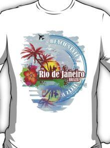 Rio de Janeiro Beach Style T-Shirt