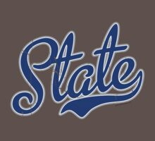 Blue State Script VINTAGE by USAswagg2
