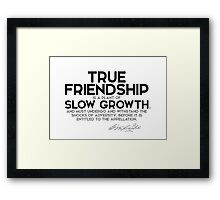 true friendship is a plant of slow growth - george washington Framed Print