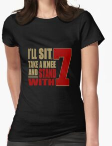 I Stand with 7 Womens Fitted T-Shirt