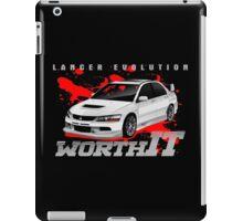 Mitsubishi Lancer Evo (white) iPad Case/Skin