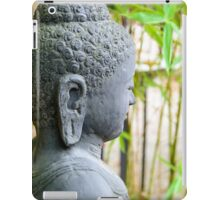statue of buddha in zen garden iPad Case/Skin