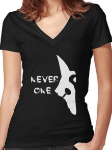 Kindred Mask - League of Legends Women's Fitted V-Neck T-Shirt
