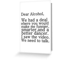 ALCOHOL PARTY DANCE Greeting Card