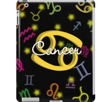 Cancer Floating Zodiac Name iPad Case/Skin