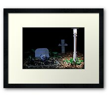 Rise of the Lego zombie Framed Print