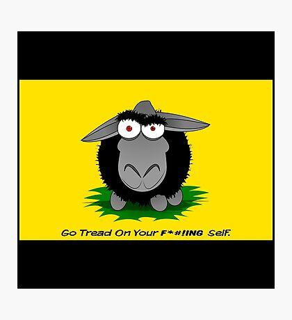 Black Sheep Gadsden Flag Photographic Print