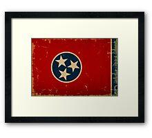Tennessee State Flag VINTAGE Framed Print