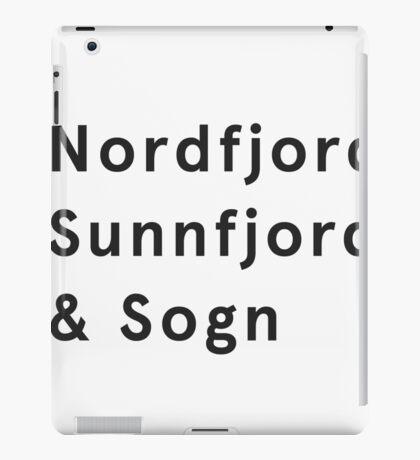 Sogn og Fjordane iPad Case/Skin