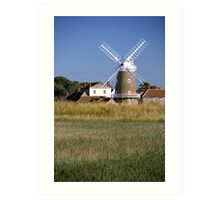 Stunning Panorama of Cley Windmill Art Print