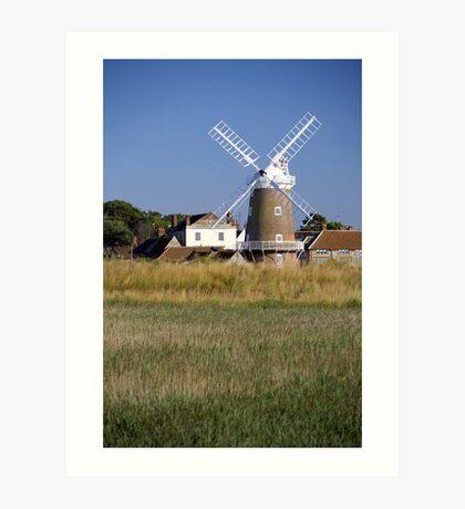 Stunning Panorama of Cley Windmill Art Print