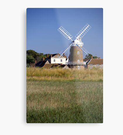 Stunning Panorama of Cley Windmill Metal Print