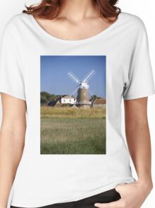 Stunning Panorama of Cley Windmill Women's Relaxed Fit T-Shirt