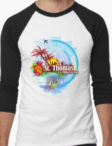 St Thomas USVI Men's Baseball ¾ T-Shirt