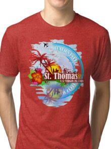 St Thomas USVI Tri-blend T-Shirt