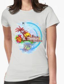St Thomas USVI Womens Fitted T-Shirt