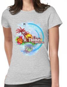 St Thomas USVI Womens Fitted T-Shirt