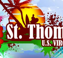 St Thomas USVI Sticker