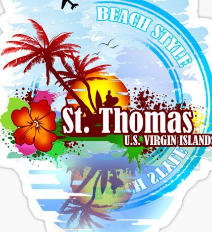 St Thomas USVI Sticker
