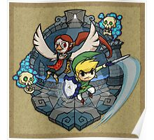 Legend of Zelda Wind Waker Earth Temple T-Shirt Poster