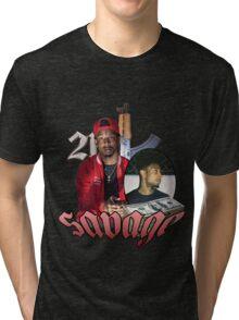 21 SAVAGE VINTAGE T SHIRT TEE HIPHOP Tri-blend T-Shirt
