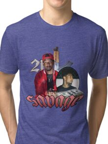 21 SAVAGE VINTAGE T SHIRT TEE HIPHOP Tri-blend T-Shirt