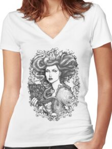 MEDUSA IMPERATRIX MUNDI Women's Fitted V-Neck T-Shirt