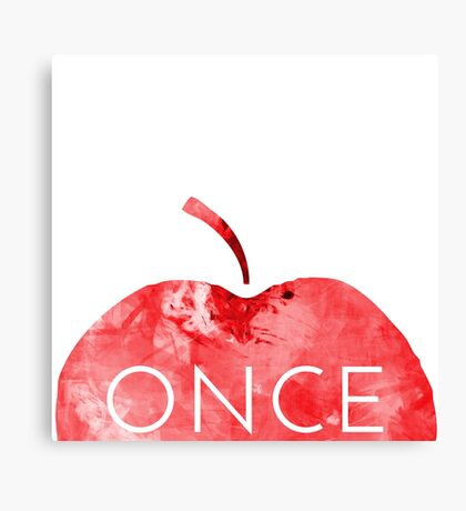 Once Upon A Time-Apple Canvas Print