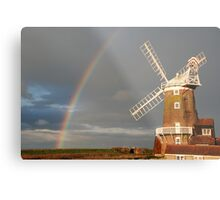 Cley Windmill and Rainbow 2010 Metal Print