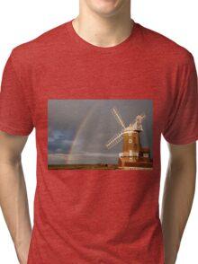 Cley Windmill and Rainbow 2010 Tri-blend T-Shirt