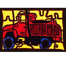 Dump truck (pieces of the puzzle 1) Photographic Print