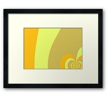 Multicolor Yellow swirl abstract pattern Framed Print