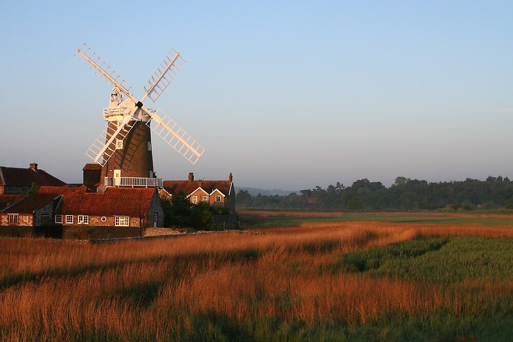 Cley Windmill at Dawn by cleywindmill