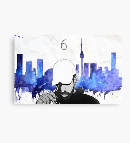 Drake - Watercolors (Blue) Metal Print