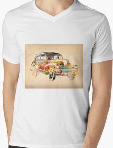car Mens V-Neck T-Shirt