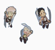 Attack on Titan Jean, Marco, Connie by toifshi