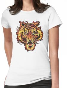 Tiger Flame Womens Fitted T-Shirt