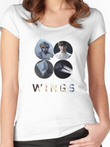 BTS-WINGS-BEGIN [WHITE] Women's Fitted Scoop T-Shirt
