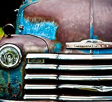 Vintage Blue Chevy by Alicia Thorpe