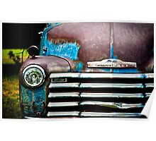 Vintage Blue Chevy Poster