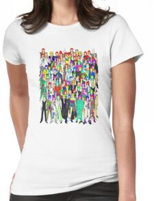 Tokyo Punks One Pattern Womens Fitted T-Shirt