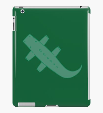 Green Flat Carpet Crocodile iPad Case/Skin
