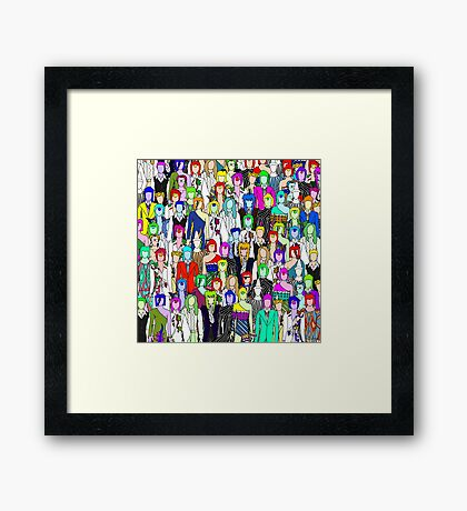 Bowie Zombies Framed Print