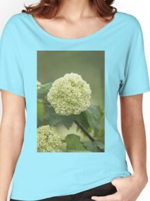 white hydrangea Women's Relaxed Fit T-Shirt