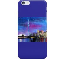 Toronto Skyline At Night With Cn Tower iPhone Case/Skin