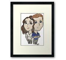 Cartoon FITZSIMMONS being cute! Framed Print