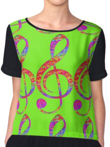 Psychedelic Music Symbol Chiffon Top