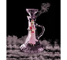 JEANNIE IN A BOTTLE..MAKE A WISH...THROW PILLOW-TOTE BAG-TABLET CASE-IPHONE COVER ECT. Photographic Print
