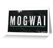 mogwai band poster Greeting Card